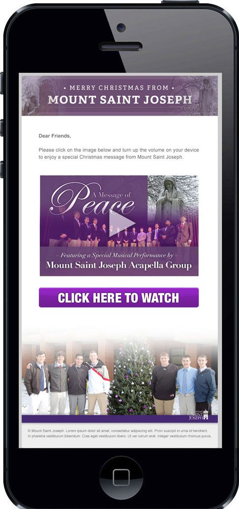 O'Dell Graphic Solutions works with Mount Saint Joseph High School Christmas Campaign 2105