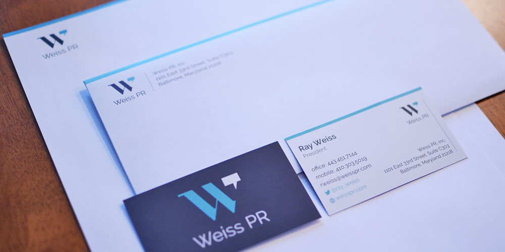 Weiss PR Letter Head & Business Cards by O'Dell Graphic Solutions