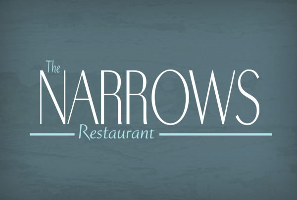 The Narrows Restaurant Logo & Website by O'Dell Graphic Solutions