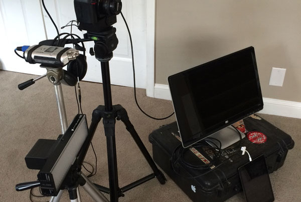 Simple A/V Set up for Media Training by O'Dell Graphic Solutions