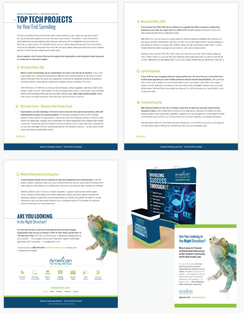 Whitepaper / Report Design for American Technology Services by O'Dell Graphic Solutions